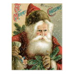 Old Fashioned Merry Christmas Santa Claus Postcard