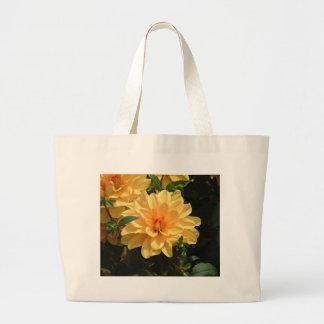"""Old Fashioned Orange Dahlia"" Jumbo Tote Bag"