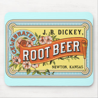 Old Fashioned Rootbeer Label Mousepad