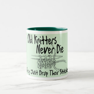Old Knitters Two-Tone Mug