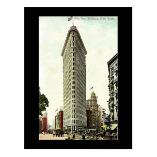 Old Postcard, New York City, Flat Iron Building Postcard