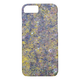Old rusted metal surface with small yellow mold iPhone 7 case