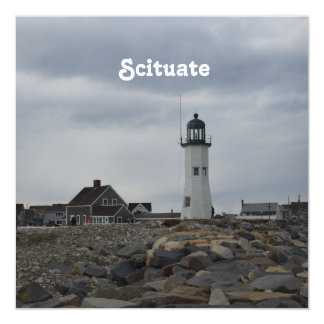Old Scituate Lighthouse 13 Cm X 13 Cm Square Invitation Card