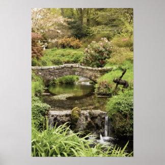 Old Stone Bridge Over A Stream In Dartmoor Park Poster