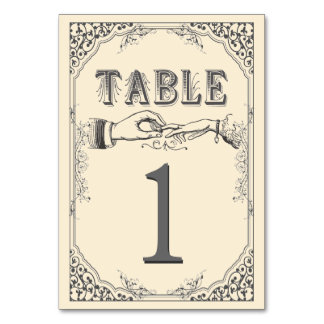 Old time Victorian table numbers Table Card