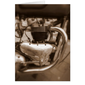 Old Triumph Engine Greeting Card