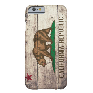 Old Wooden California Flag Barely There iPhone 6 Case