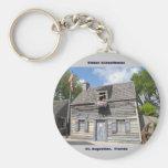 Oldest School House St. Augustine Fl Basic Round Button Key Ring