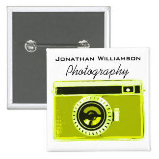 Olive Camera Photography Business 15 Cm Square Badge
