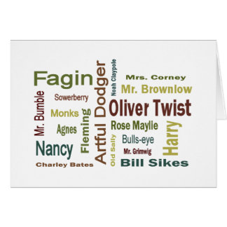 Oliver Twist Characters Greeting Card