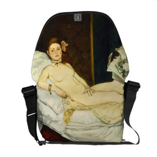 Olympia by Edouard Manet Commuter Bags