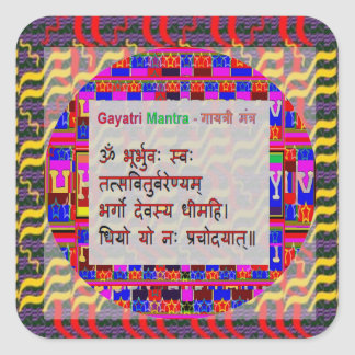 Om Mantra Gayatri Mantra Square Sticker