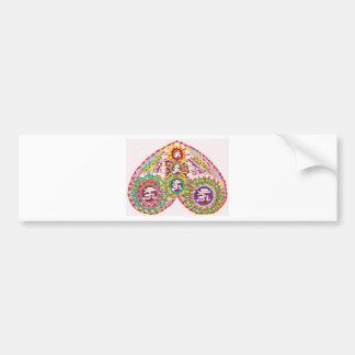 OM MANTRA in HEART Bumper Sticker