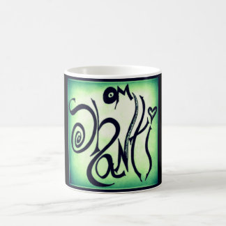 OM SHANTI GRAFFITI COFFEE MUG