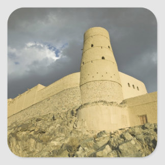 Oman, Western Hajar Mountains, Bahla. Bahla Fort Square Sticker