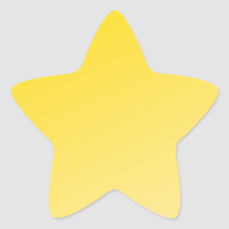 Ombre Shinning Stars (Yellow) Star Sticker