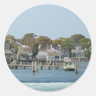 On the Ferry Round Sticker