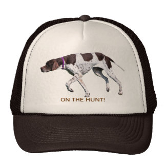 On the hunt English Pointer dog hat, gift idea Cap