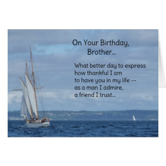 On your birthday, Brother... Greeting Card