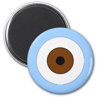 One Brown Eye 6 Cm Round Magnet