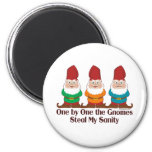 One By One The Gnomes 6 Cm Round Magnet