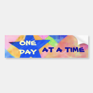 "One Day at a Time ""Blue Star"" bumpersticker Bumper Sticker"