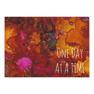 """One Day at a Time"" Card in ""Taurus"" Print 13 Cm X 18 Cm Invitation Card"