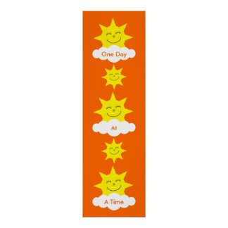 One Day At A Time Customizable Long Recovery Poster