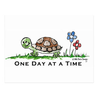 One Day at a Time (Recovery) Postcard