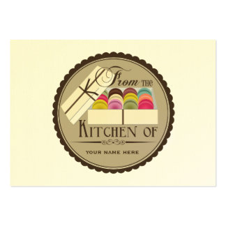 One Dozen French Macarons Set Of 100 Recipe Cards Pack Of Chubby Business Cards
