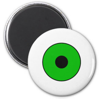 One Green Eye 6 Cm Round Magnet
