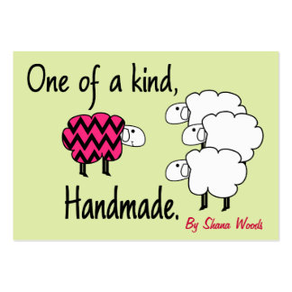 One Of A Kind Pink and Black Sheep Hang Tag Pack Of Chubby Business Cards