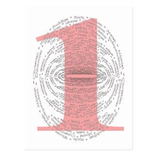 One - Pink Version Postcard