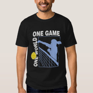 One World One Game Volleyball Black T-Shirt