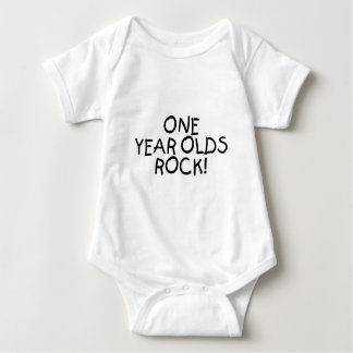 One Year Olds Rock (Black) T Shirts