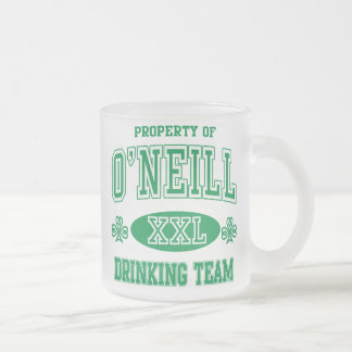 O'Neil Irish Drinking Team Frosted Glass Mug