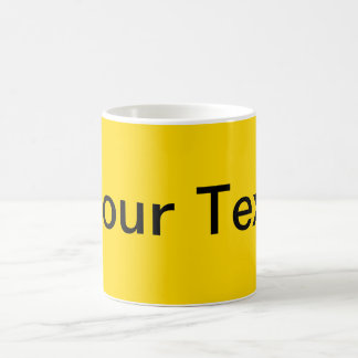 ONLY COLOR / yellow + your text Basic White Mug