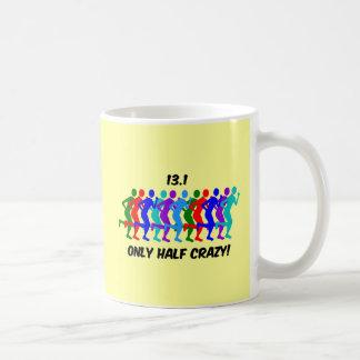 only half crazy basic white mug
