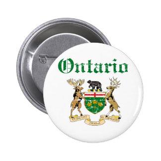 Ontario Canada coat of arms design 6 Cm Round Badge