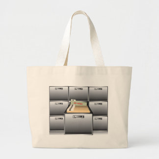 Open Drawer with Top Secret File Jumbo Tote Bag