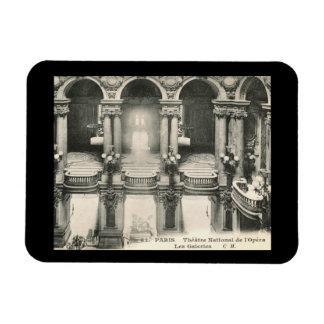 Opera House, Paris, France Vintage Rectangular Photo Magnet