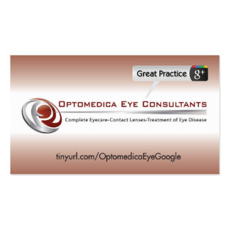 Optomedica Eye Consultants Pack Of Standard Business Cards