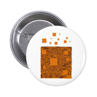 Orange alert float abstract Halloween black box 6 Cm Round Badge