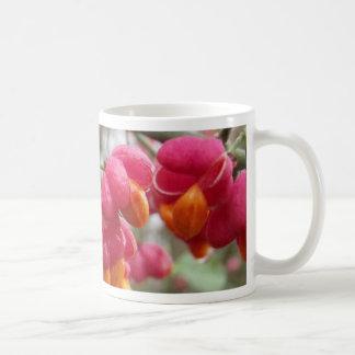 Orange and Pink Wahoo Bush Berries Basic White Mug