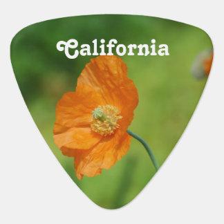 Orange California Poppy Guitar Pick