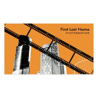 Orange city scape photographer custom cards pack of standard business cards