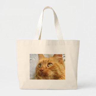 Orange Coon Cat Giant Tote Jumbo Tote Bag