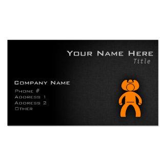 Orange Cowboy Pack Of Standard Business Cards