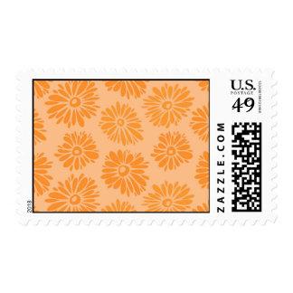 Orange Flowers postage
