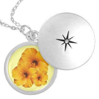 Orange Hibiscus Flower Necklace